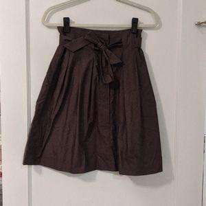 Banana Republic Paper bag Waist Skirt Size 0 Brown